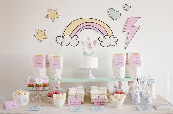 Image of Pack imprimible baby unicorn