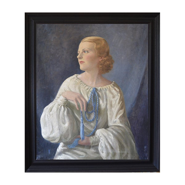 Image of Large, 1930's, Society Portrait of a Lady
