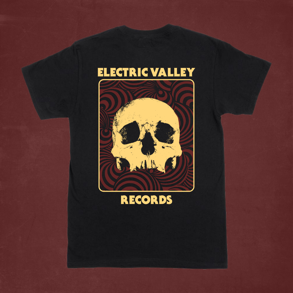 Image of Heavy Psych Skull T-Shirt (red/yellow)