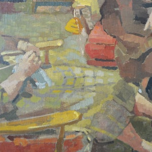Image of 1953 Oil Painting. 'Two Friends,' Harold Storey (1888 -1965)