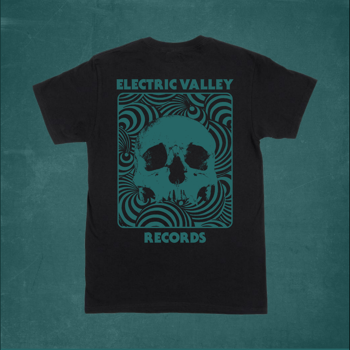 Image of Heavy Psych Skull T-shirt (Aqua Green)