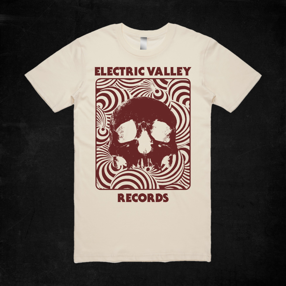 Image of Heavy Psych Skull T-shirt (red)
