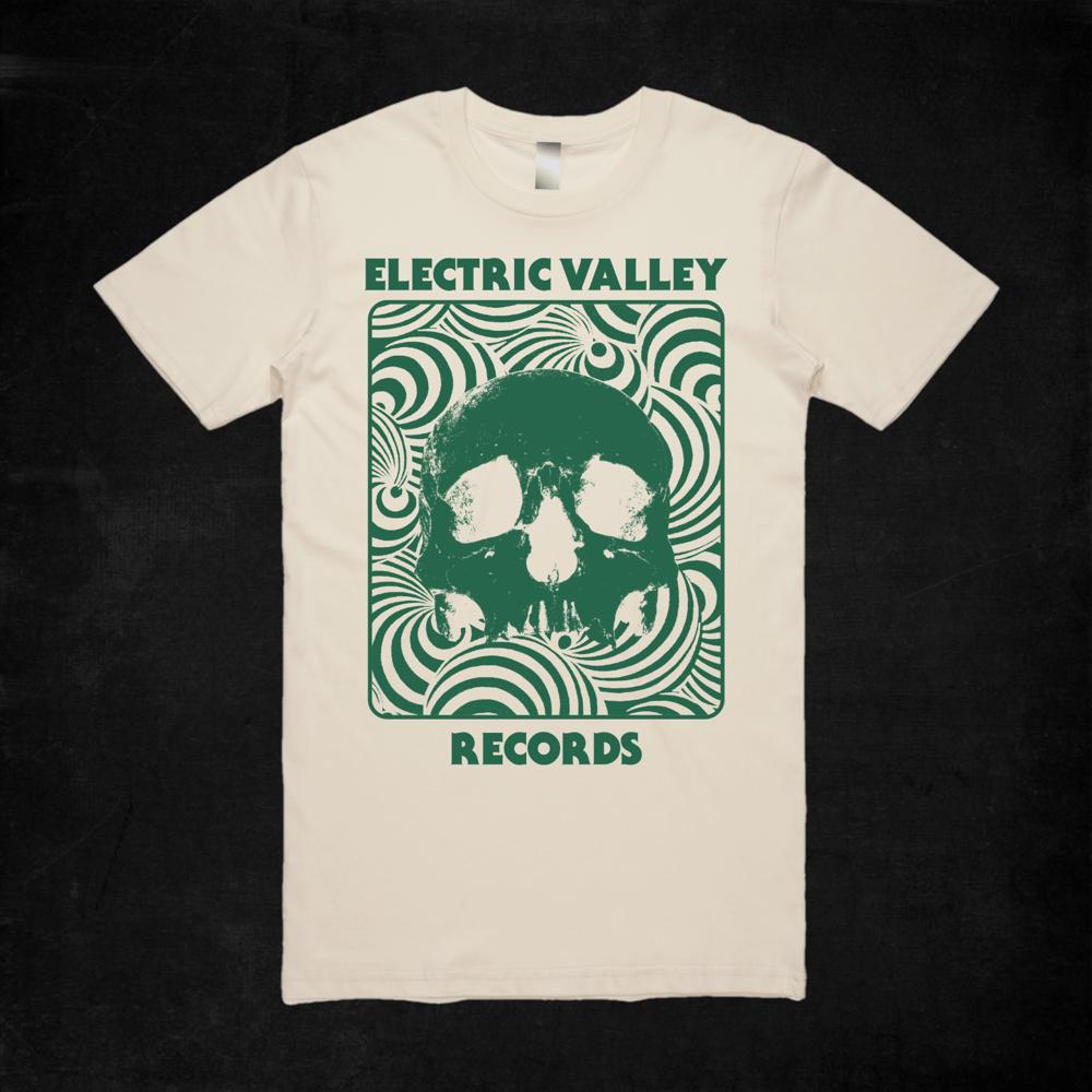 Image of Heavy Psych Skull T-shirt (Green)