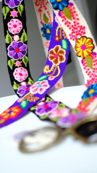 Image of Multicolor hand embroidered belts
