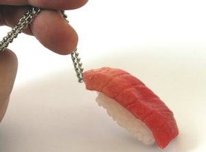 Image of sushi necklace (tuna)