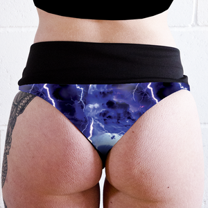 Image of Lightning High Waisted Twerk Thong Shorts