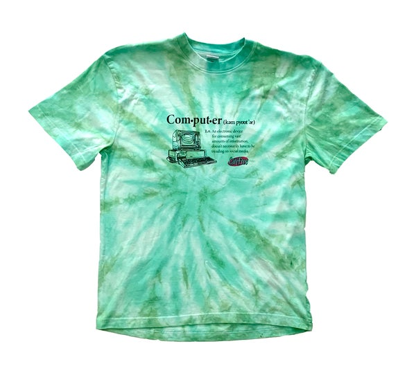 Image of CareFree Tie-Dye Computer T-shirt (Green)