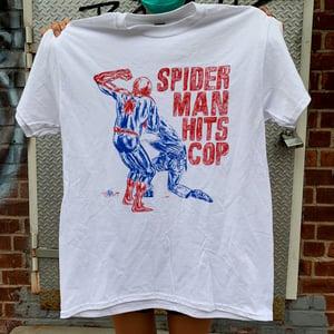 Image of Spiderman Hits Cop tee (BENEFIT)