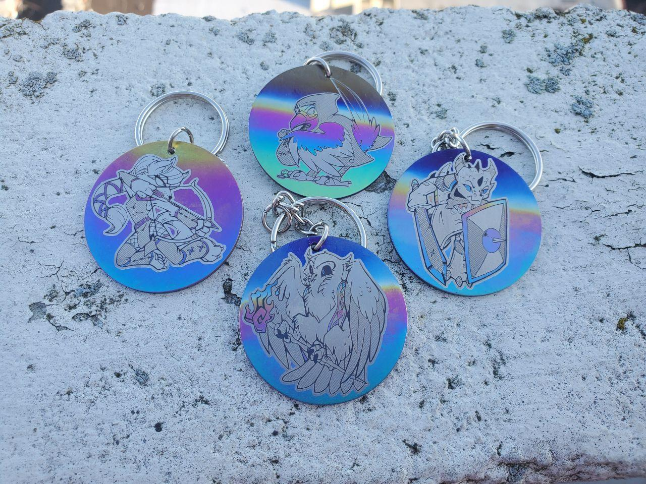 Image of Disk Style Keychains