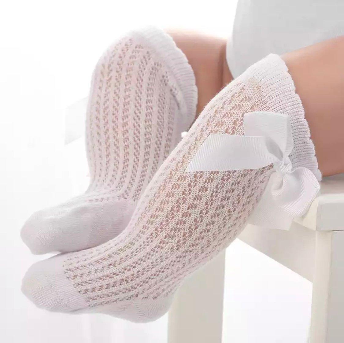 Image of White knee socks