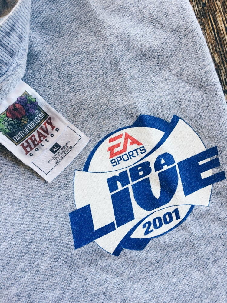 Image of Original 2001 EA Sports NBA Live Promo Tee.