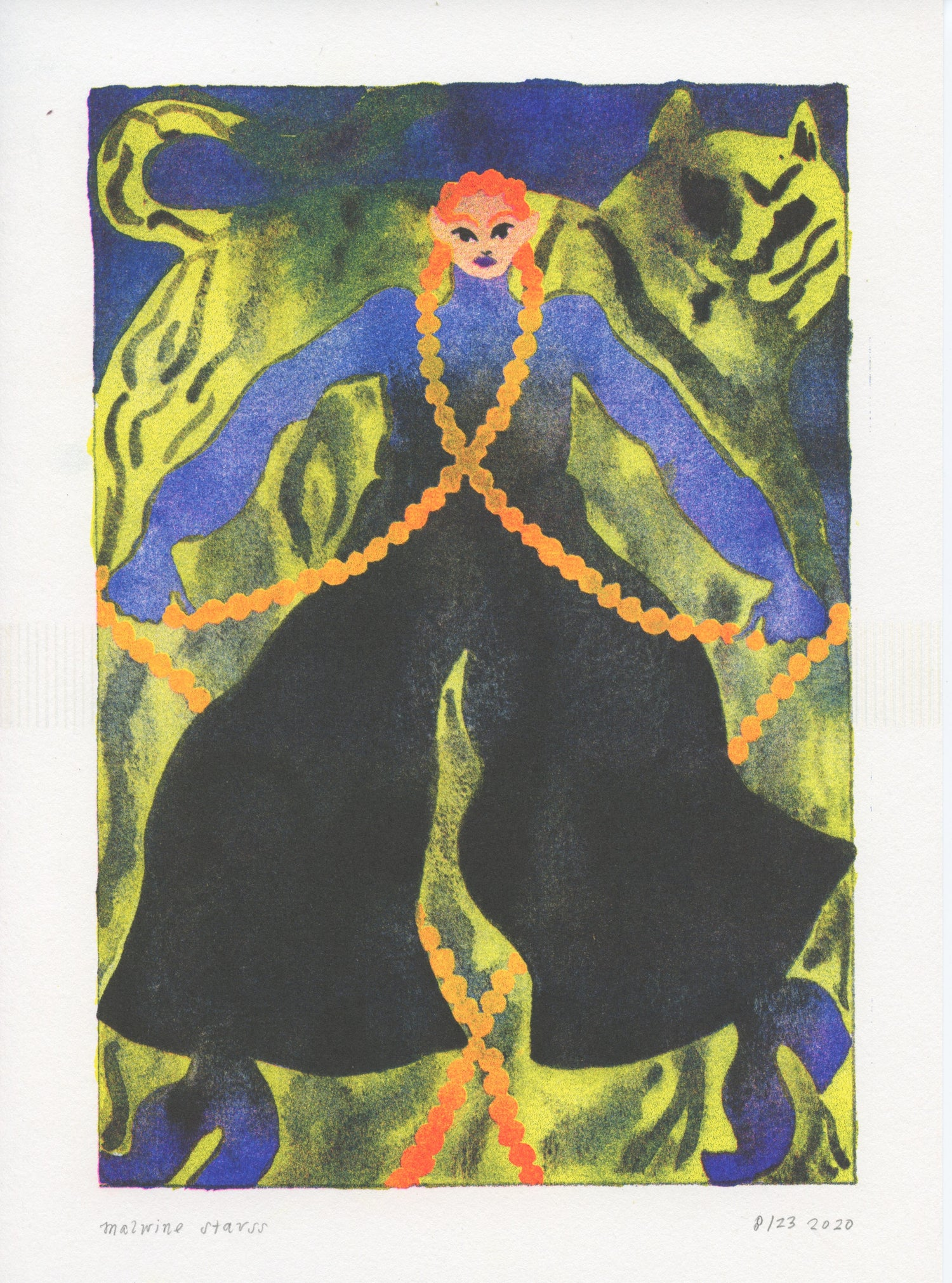 Image of Tiger Queen Riso print