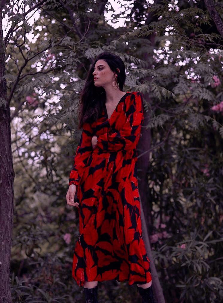 Image of Vestido Largo Abeto Rojo