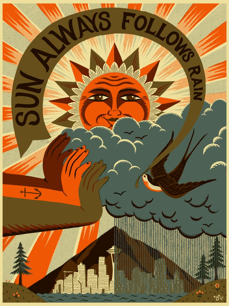 "Image of ""Sun Always Follows The Rain"" Kyler Martz Art Print"