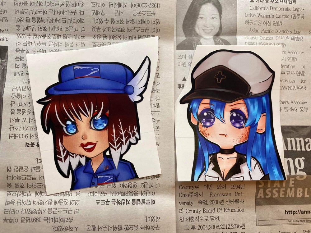 Image of Esdeath & Post-Office-Chan