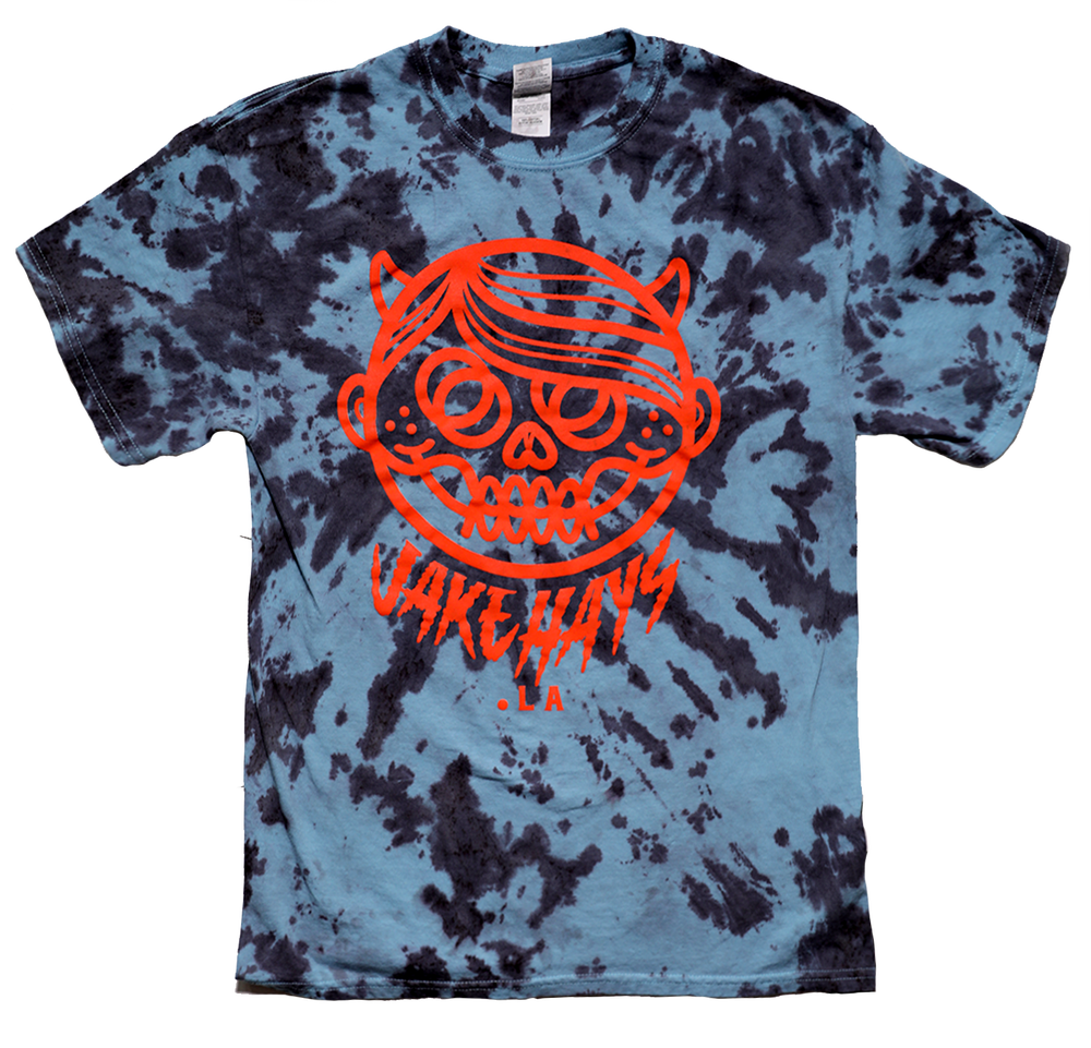 "Image of *NEW* TIE-DYE ""DEVILBOY"" BLACK & BLUE"
