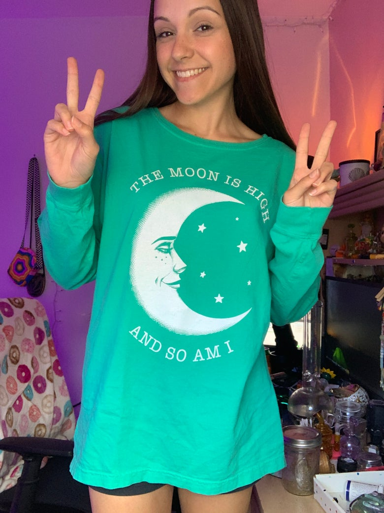 Image of THE MOON IS HIGH AND SO AM I - Island Reef drop shoulder long sleeve