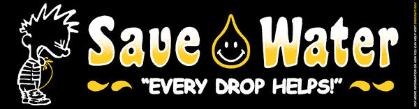 "Image of ""SAVE WATER"" BUMPER STICKER"