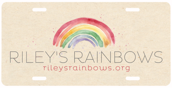 Image of Riley's Rainbows License Plate