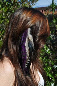 Image of Purple Feather Hair Clip