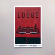 Image of The Lodge movie - letterpress poster
