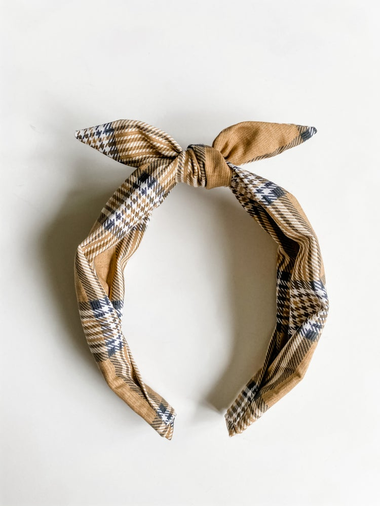 Image of Plaid print headbands