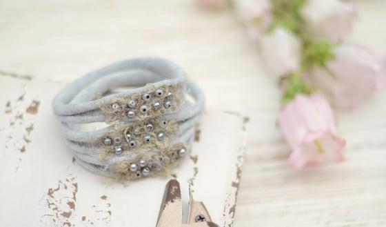 Image of Beads headband gray