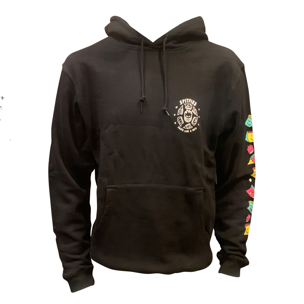 Image of Spitfire X Skate Like A Girl Pullover Hoodie - Black