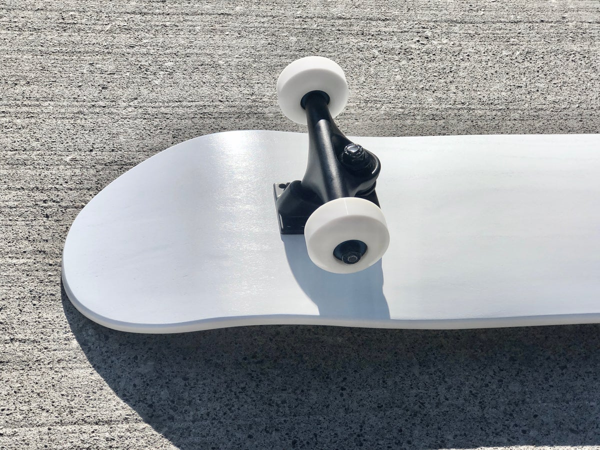 Image of White Complete Skateboard