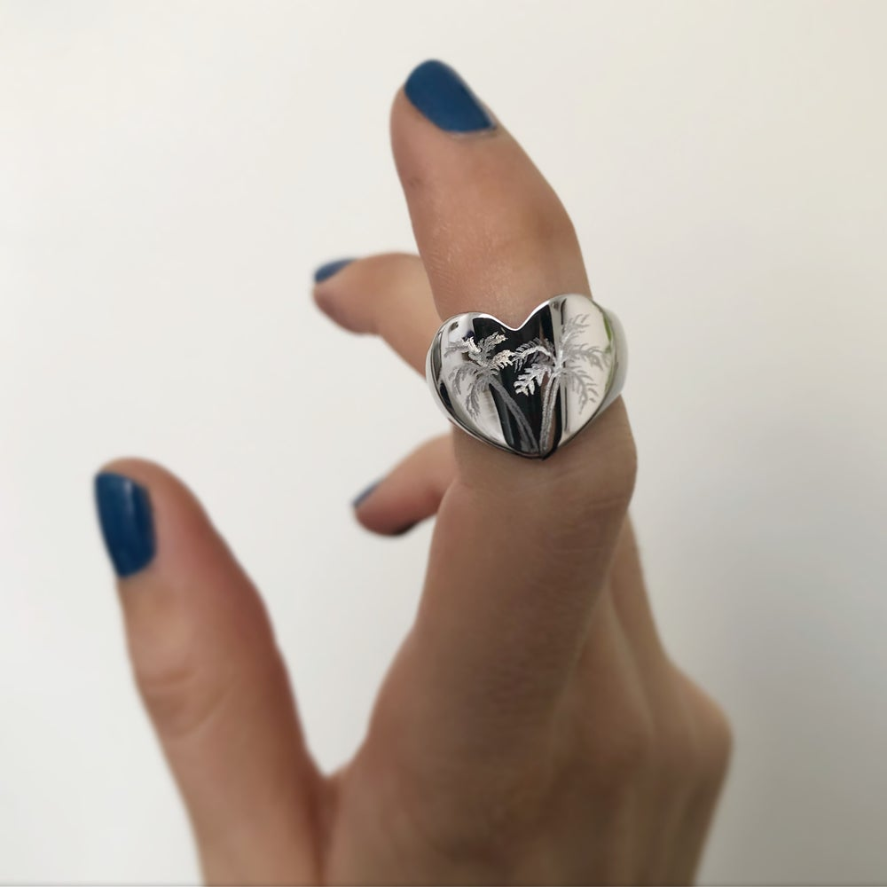Image of HAND ENGRAVED HEART RINGS