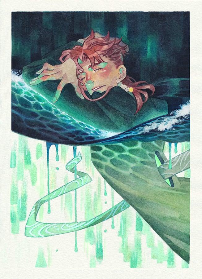 Image of [A5] Mini Print | Emerald Wave