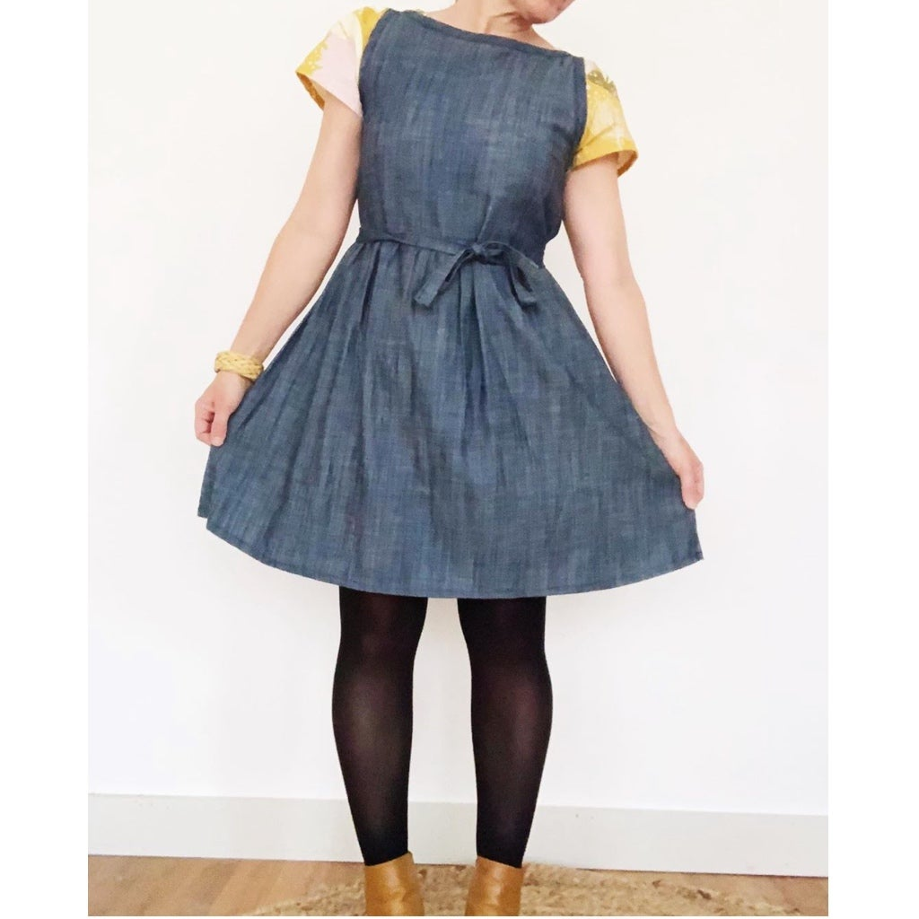 Custom Denim Sleeveless Julia Dress