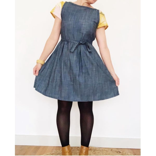 Image of Custom Denim Sleeveless Julia Dress