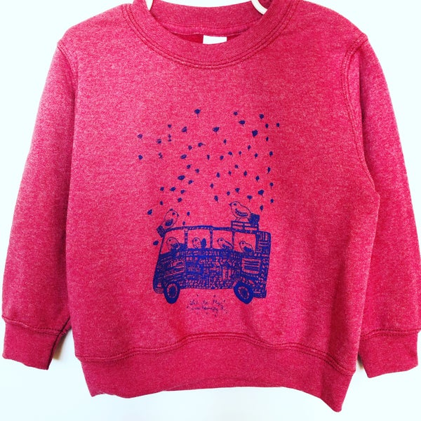 Image of Kid's Sweat-shirt *Bus VW on the road*