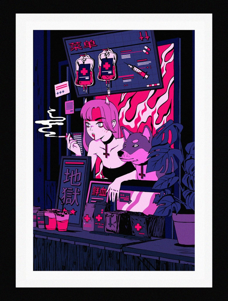 Image of Shopping for Blood (A3 ver.)