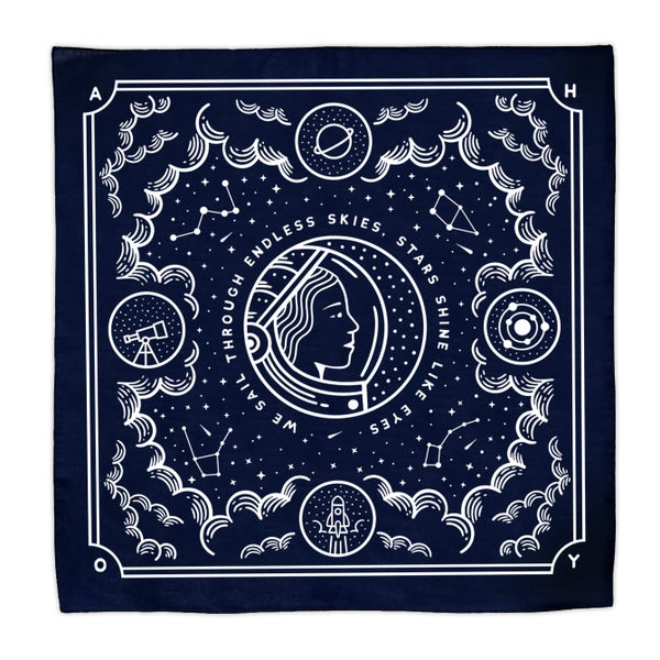 Image of Endless Skies -  Navy Blue Cotton Bandana