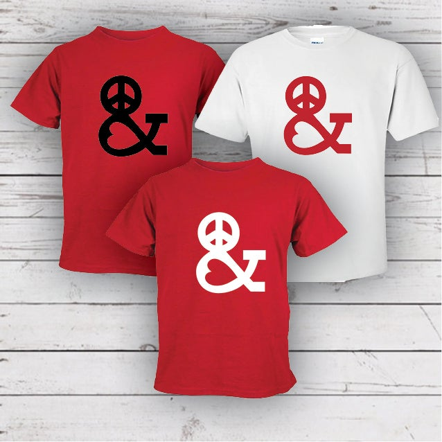 Image of PEACE & LOVE TEE