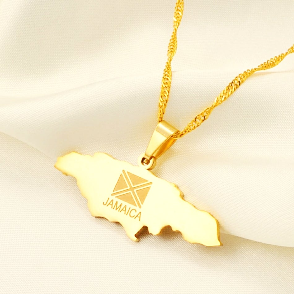 Image of JAMAICA MAP NECKLACE