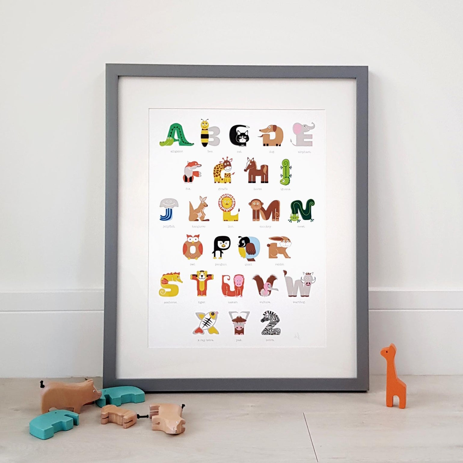 Image of Animal Alphabet Print