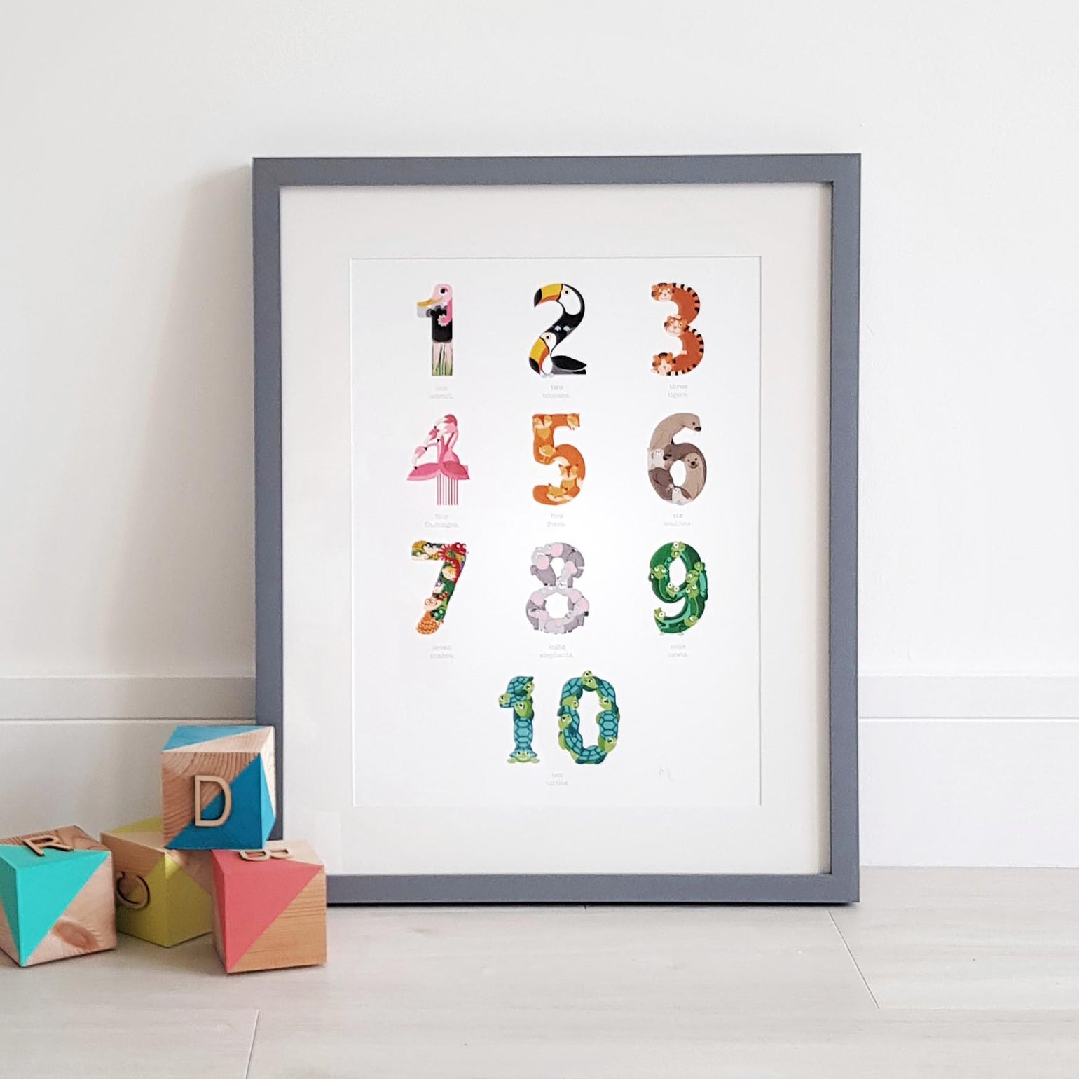 Image of Animal Numbers Print