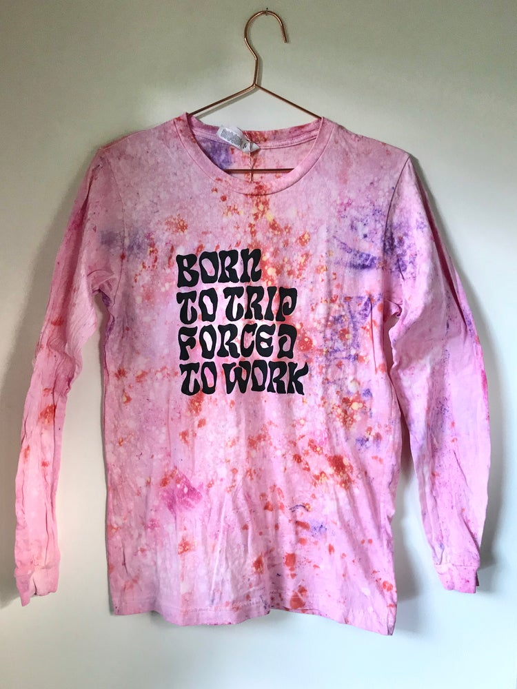 "Image of Born To Trip, Forced To Work longsleeve in ""Swannanoa Sunset"""