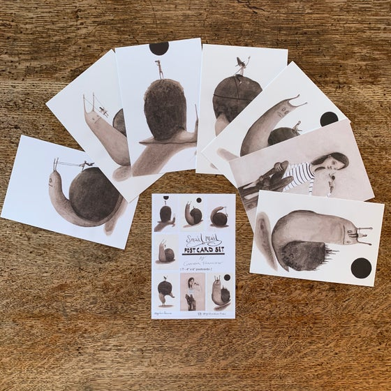 Image of Snail Mail postcard set