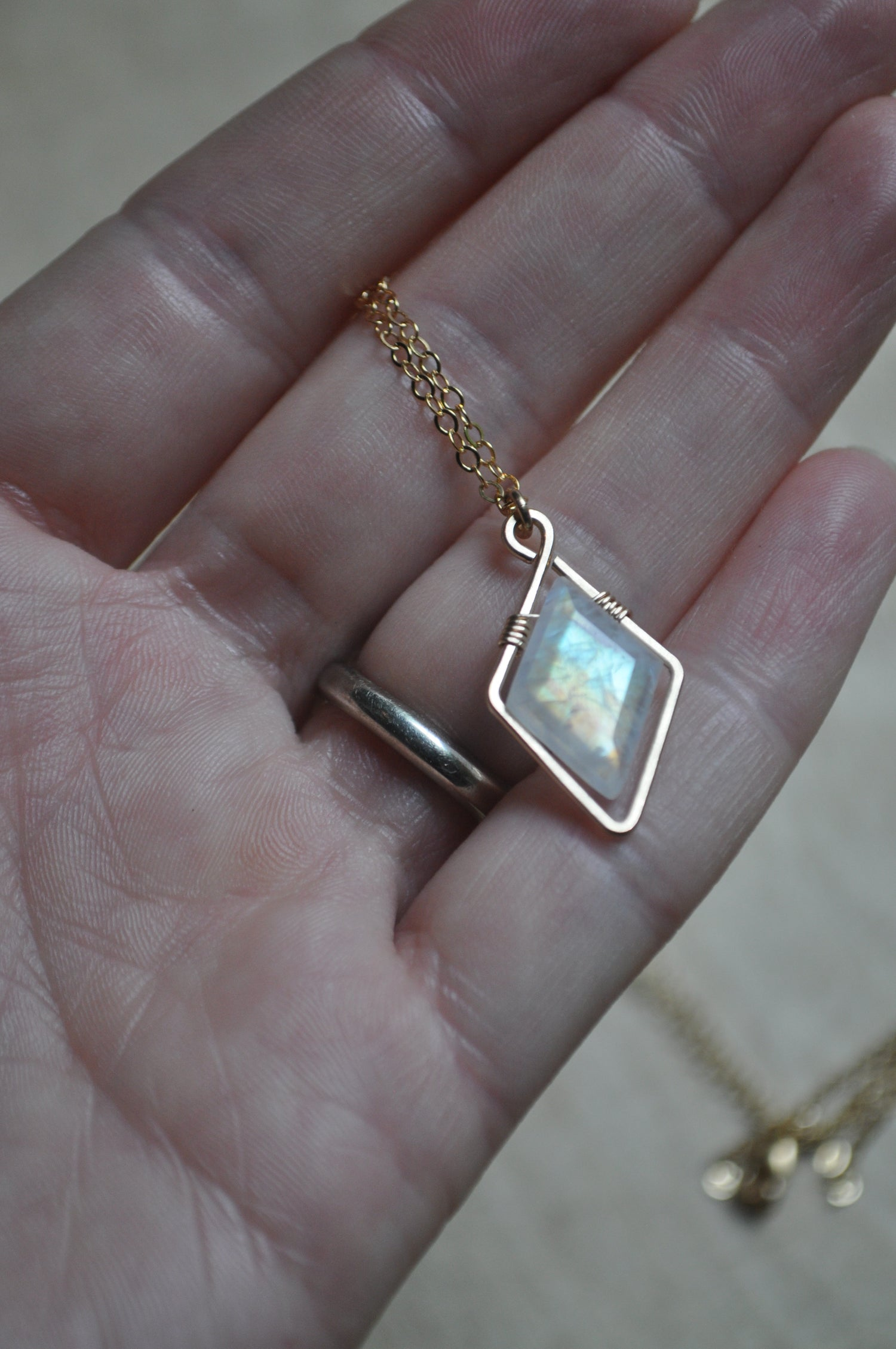 Image of Come Fly With Me - Moonstone Necklace