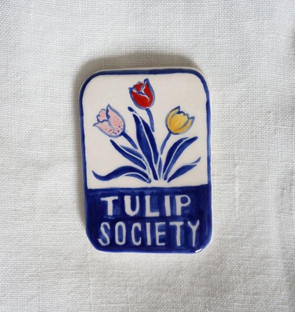 Image of Tulip Society - Brooch