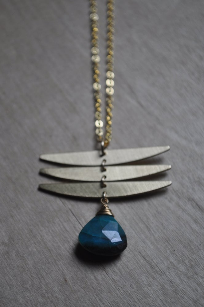 Image of The Dragonfly Necklace - In Chrysocolla