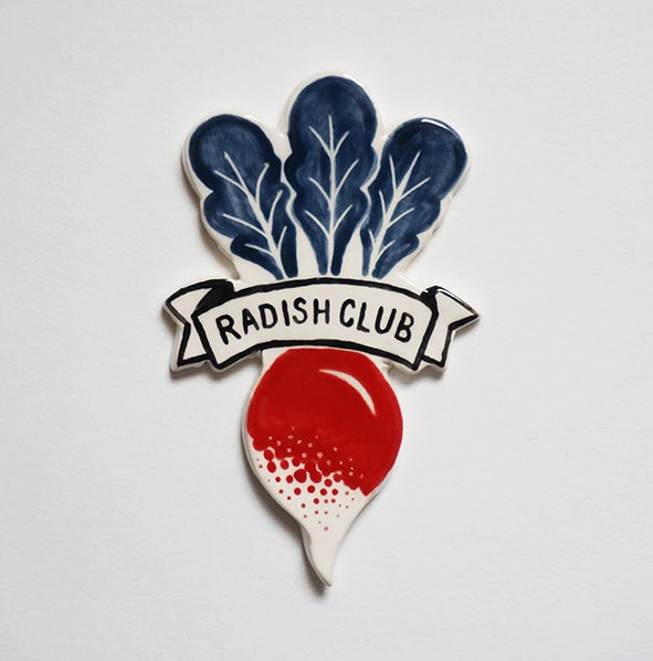 Image of Radish Club - Brooch