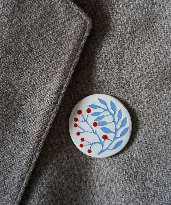 Image of Rowan Sprig - Brooch