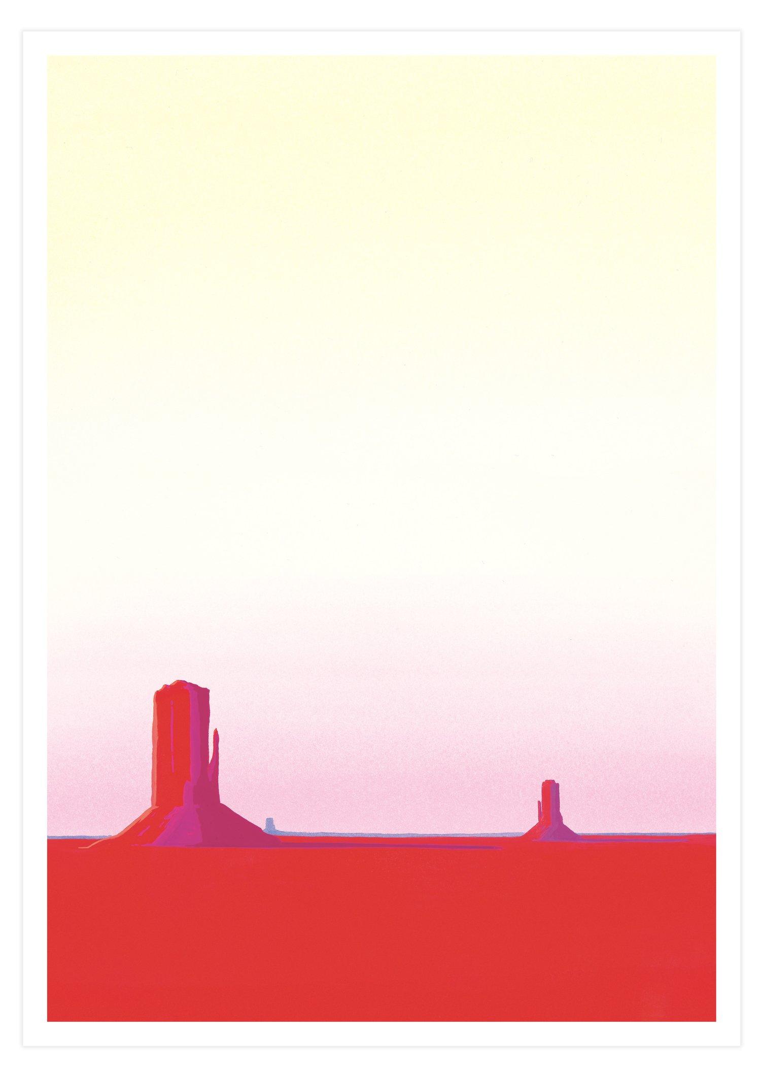 Red Desert (Signed A3 giclée print)