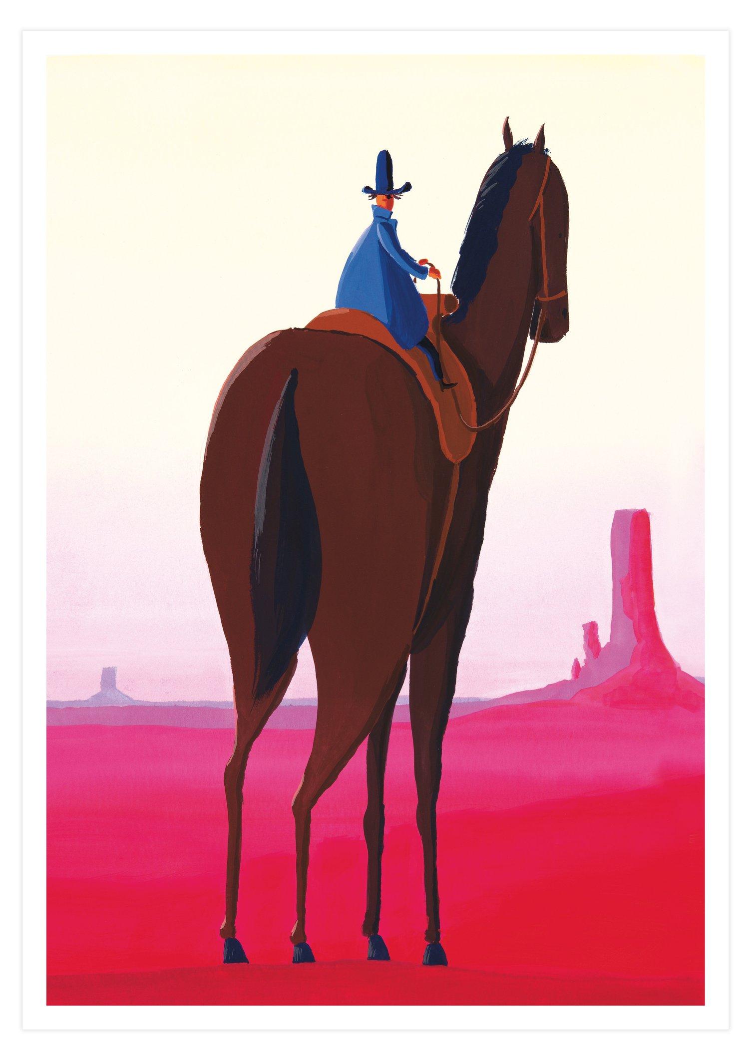 Mini's Horse (Signed A3 giclée print)