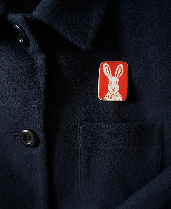 Image of Hare - Brooch